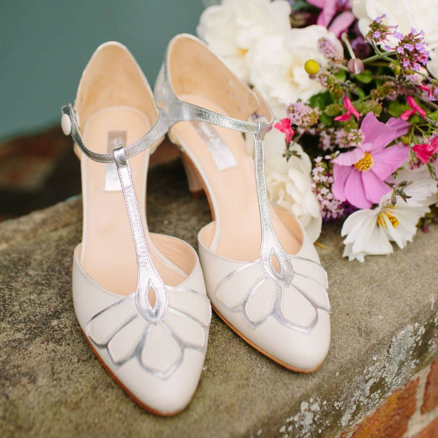 Claire Pettibone Wedding Dress and Rachel Simpson Shoes for a