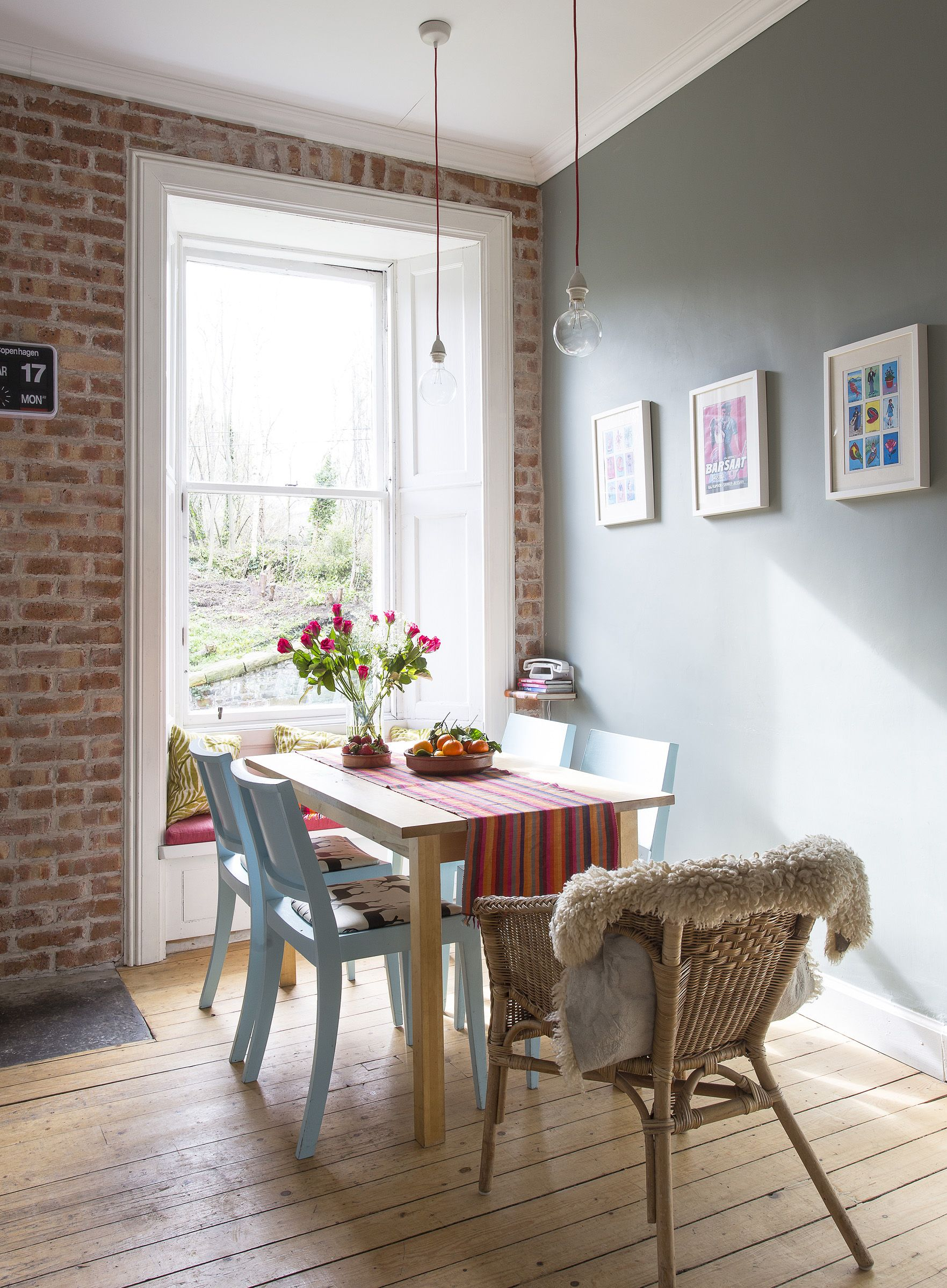 Brick Kitchen Brick Slip Wall By Slimbrick Walls In Pigeon By Farrow And