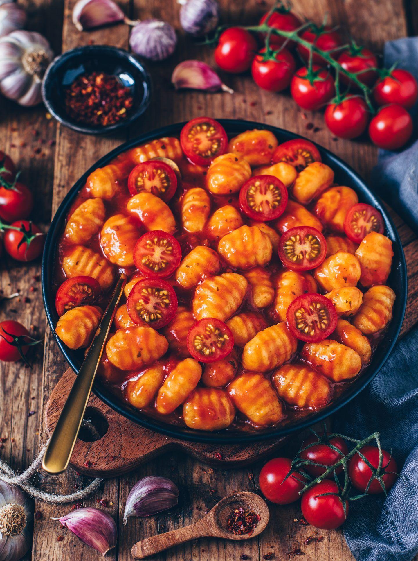 #recipes Gnocchi mit Tomatensauce (vegan, einfach) – Bianca Zapatka | Rezepte – recipes