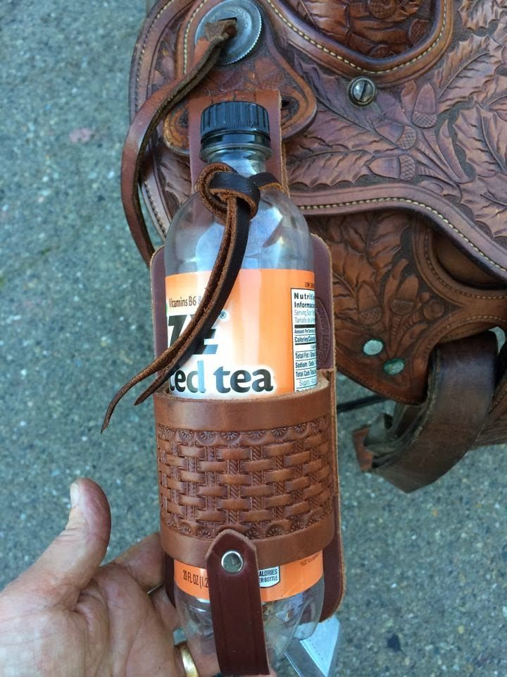 New Leather Saddle Accessories Water Wine Bottle Holder