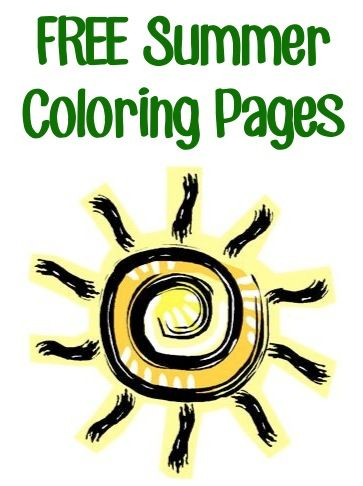 FREE Summer Coloring Pages! {keep the kids busy with theses fun ...