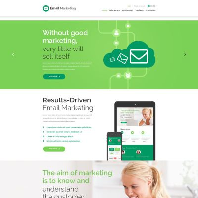 Marketing Agency Website Template Parallax Website Template