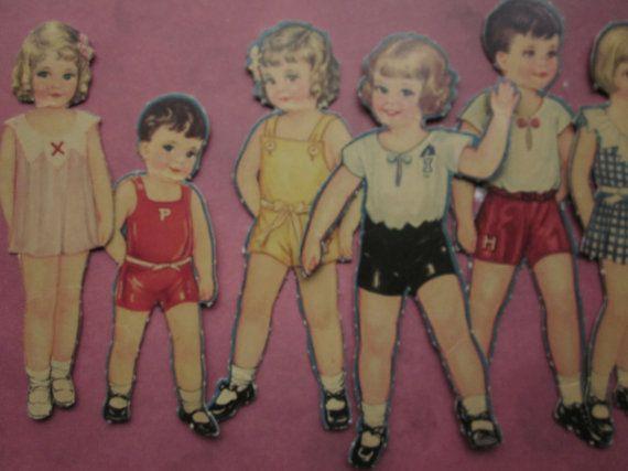 1 Vintage Paper Doll by CaityAshBadashery on Etsy, $2.95