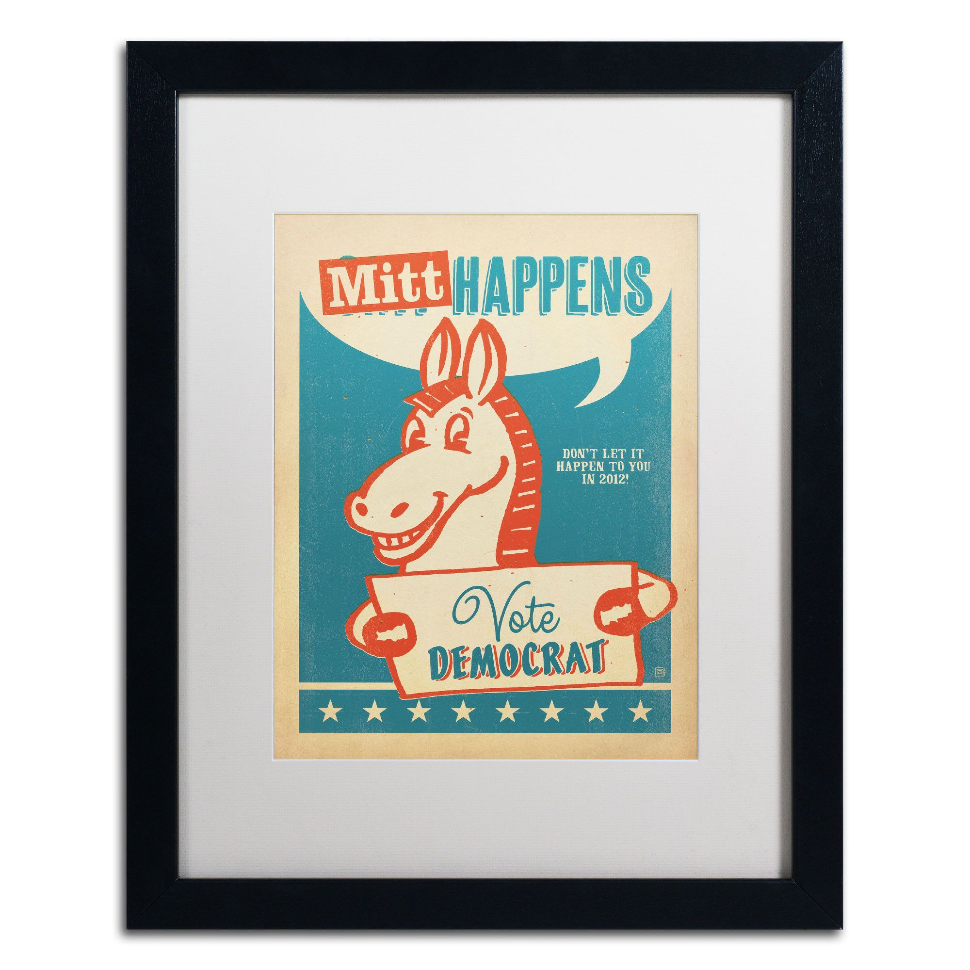 'Mitt Happens' by Anderson Design Group Framed Graphic Art