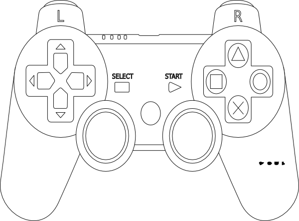 Game Controller Coloring Page … Video Games Birthday Party, Video Games  Birthday, Video Game Tester Jobs