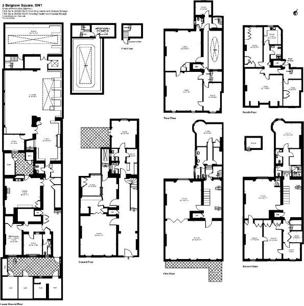 Belgrave Square Ground Plan Square floor plans, Floor