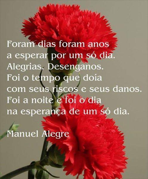 Portugal Poema De Manuel Alegre 25 De Abril 25 De Abril Dia