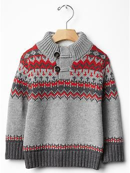 Sherpa-lined fair isle sweater | Gap Alpine 3y | Teddy's Closet ...