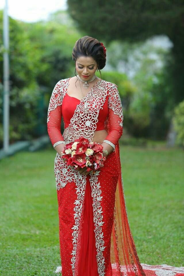 Pin by yashodara rathnathilaka on 2nd day brides for Sri lankan wedding dress