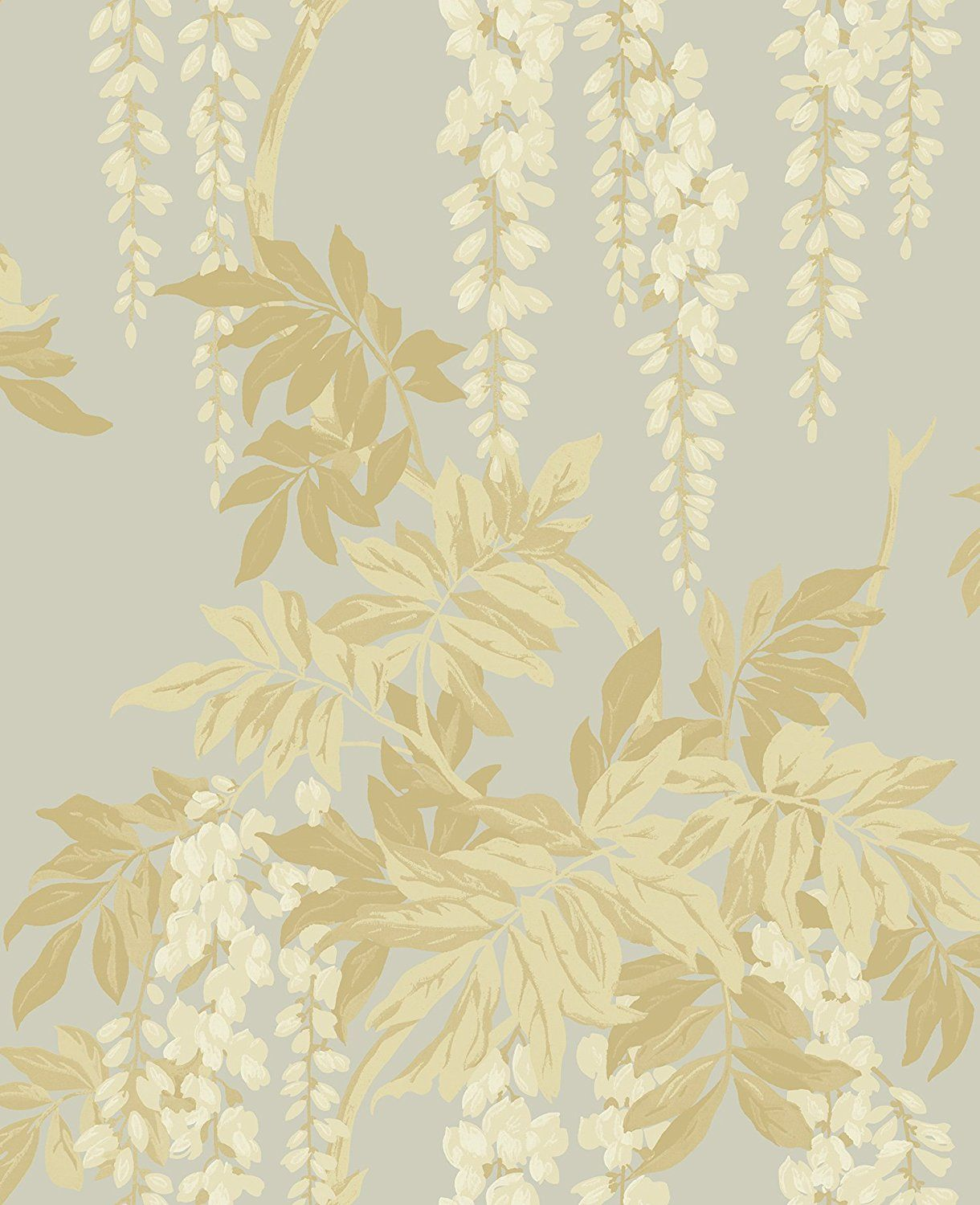 Mayflower Wallpaper Wisteria (Gold Silver) Victorian