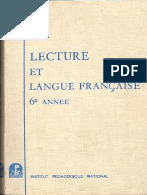 Lecture Et Langue Francaise 6e Annee Algerie Orthographe