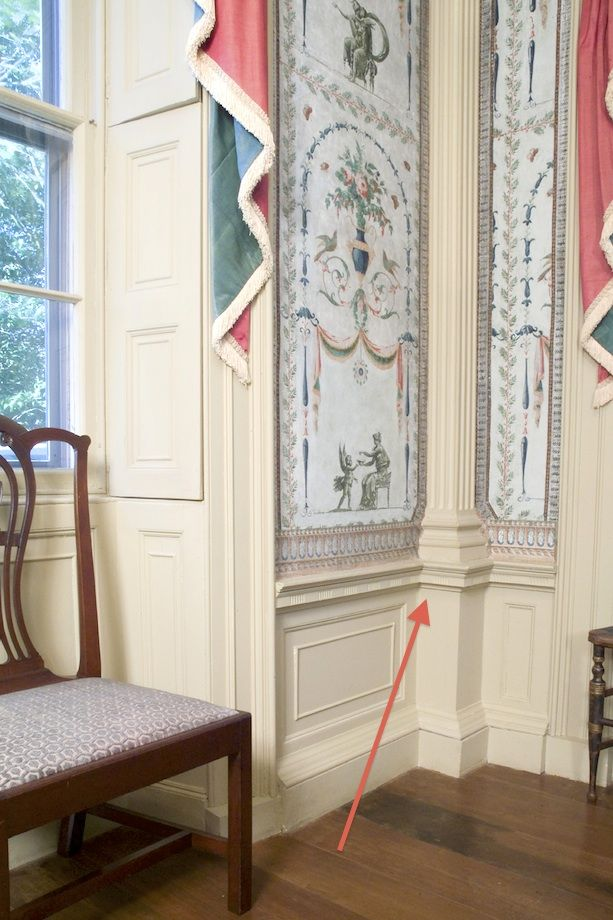 Architecturally correct chair-rail height as well as molding