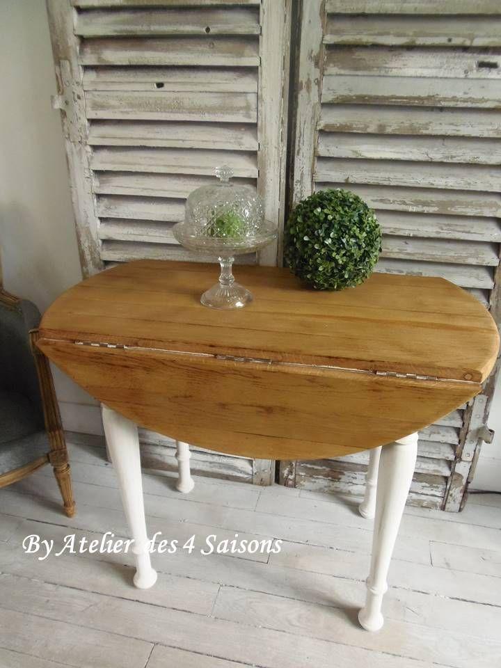table ancienne en ch ne massif pi tement patin gris perle plateau en ch ne table vintage. Black Bedroom Furniture Sets. Home Design Ideas