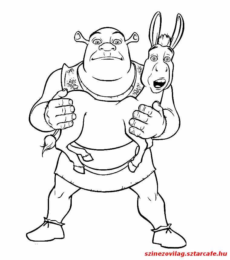 shrekszinezo140 Cartoon coloring pages