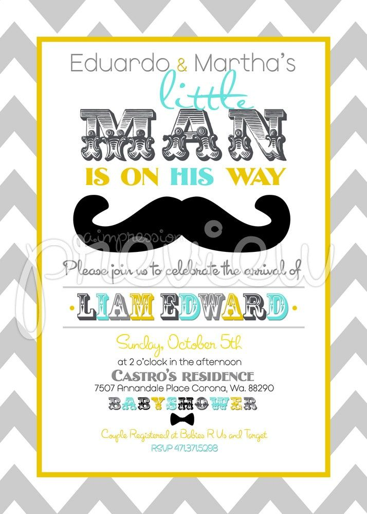 Little man baby shower invitations is one of the best idea to bring - invitation template online