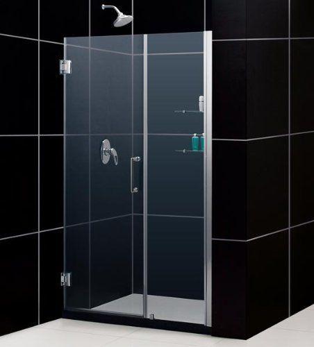 Dreamline Unidoor Frameless 51 52 Inch Adjustable Shower Door With