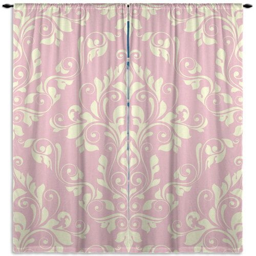 Elegant Pink Window Curtains Victorian Window Treatments Pink Damask Curtains Curtain Panel