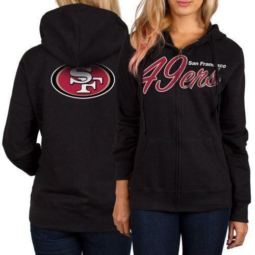 Women s Black San Francisco 49ers Home Team Full Zip Hoodie in Sports Mem 46223ed0f