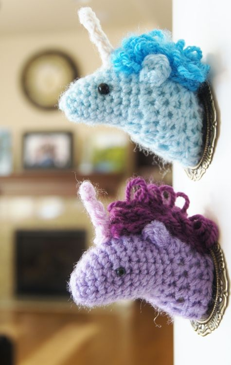 DIY Crochet Unicorn Taxidermy Pattern | Seriously I Might Do This To ...