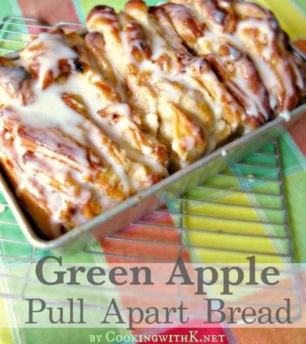 Green Apple Pull Apart Bread {Using Rhodes Frozen Bread