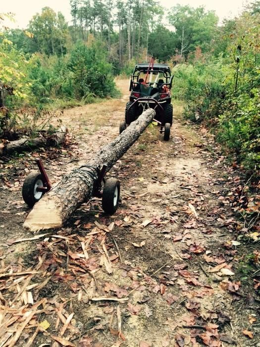 "ATV log skid arch holder customer review ""This thing"