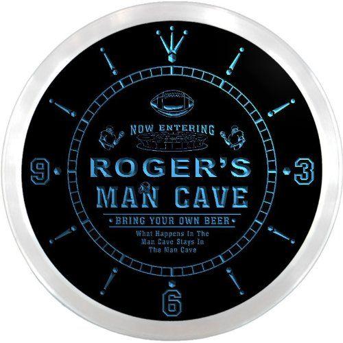 ncqa0050b ROGERS Football Man Cave Beer Pub LED Neon Sign