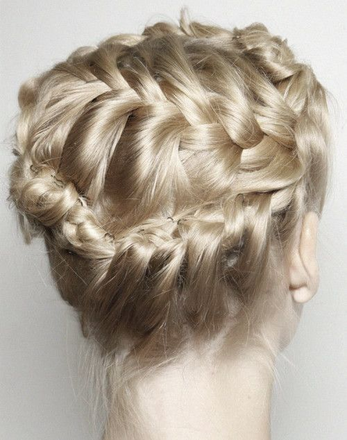 Backstage At Valentino Spring 2012 Braided Hairstyles Hair Hair Styles