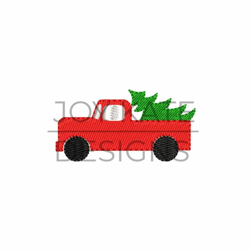 Truck With Christmas Tree Mini Fill Embroidery Design Joy Kate Designs Christmas Tree Embroidery Design Embroidery Designs Christmas Tree Truck