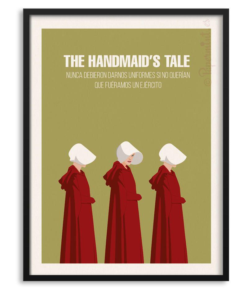 The Handmaid S Tale Póster Con Frase Personalizada Nunca Debieron Darnos Uniformes Si No Querían Que Fuéramos Un Ejército Poster Series Papel Fotografico
