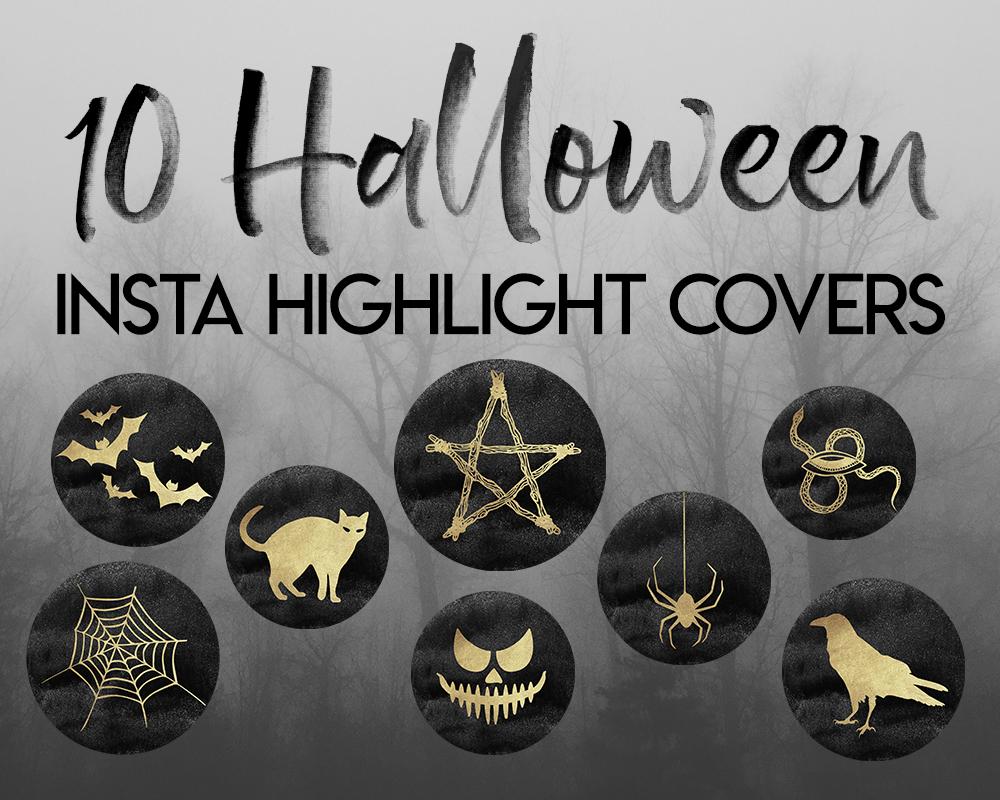 Instagram Halloween Kit Gold Halloween Instagram Icons 20 Gold Highlights For Instagram Stories Halloween Instagram Highlights