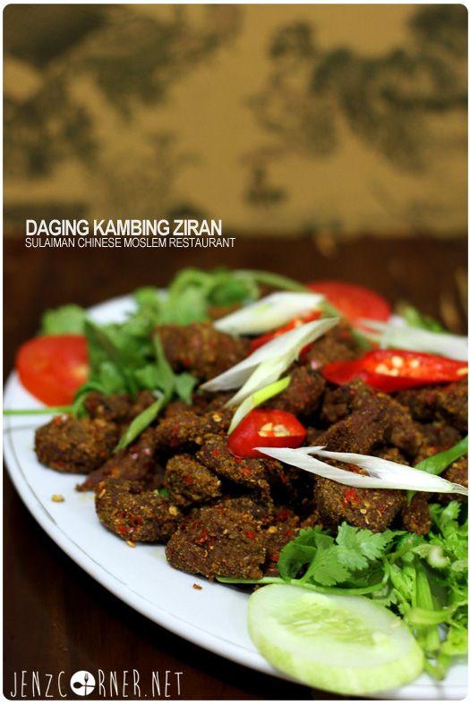 Daging Kambing Ziran Sulaiman Chinese Muslim Restaurant Jenzcorner Food Guide Food Chinese Restaurant