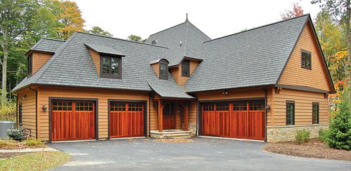 Garage Doors Cedar House Photo Multiple Garages With Custom Doors Made Of Western Red Cedar Custom Garage Doors Garage Doors Custom Garages