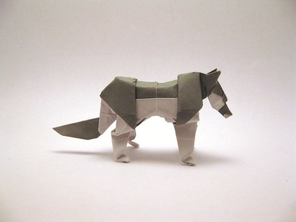 Origami wolf by jun maekawa folded by gilad aharoni lets make it origami wolf by jun maekawa folded by gilad aharoni lets make it pinterest origami wolf and simple origami jeuxipadfo Image collections