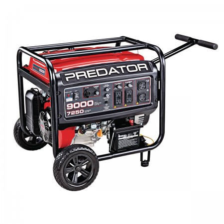 9000 Watt Max Starting Extra Long Life Gas Powered Generator Epa Iii Gas Powered Generator Power Generator Dual Fuel Generator