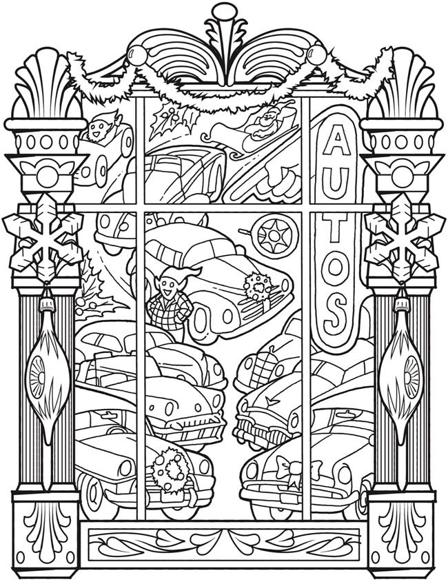 Welcome to Dover Publications - CH Vintage Christmas Windows ...