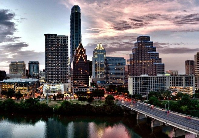 City Day And Night Wallpaper Austin Skyline Skyline City