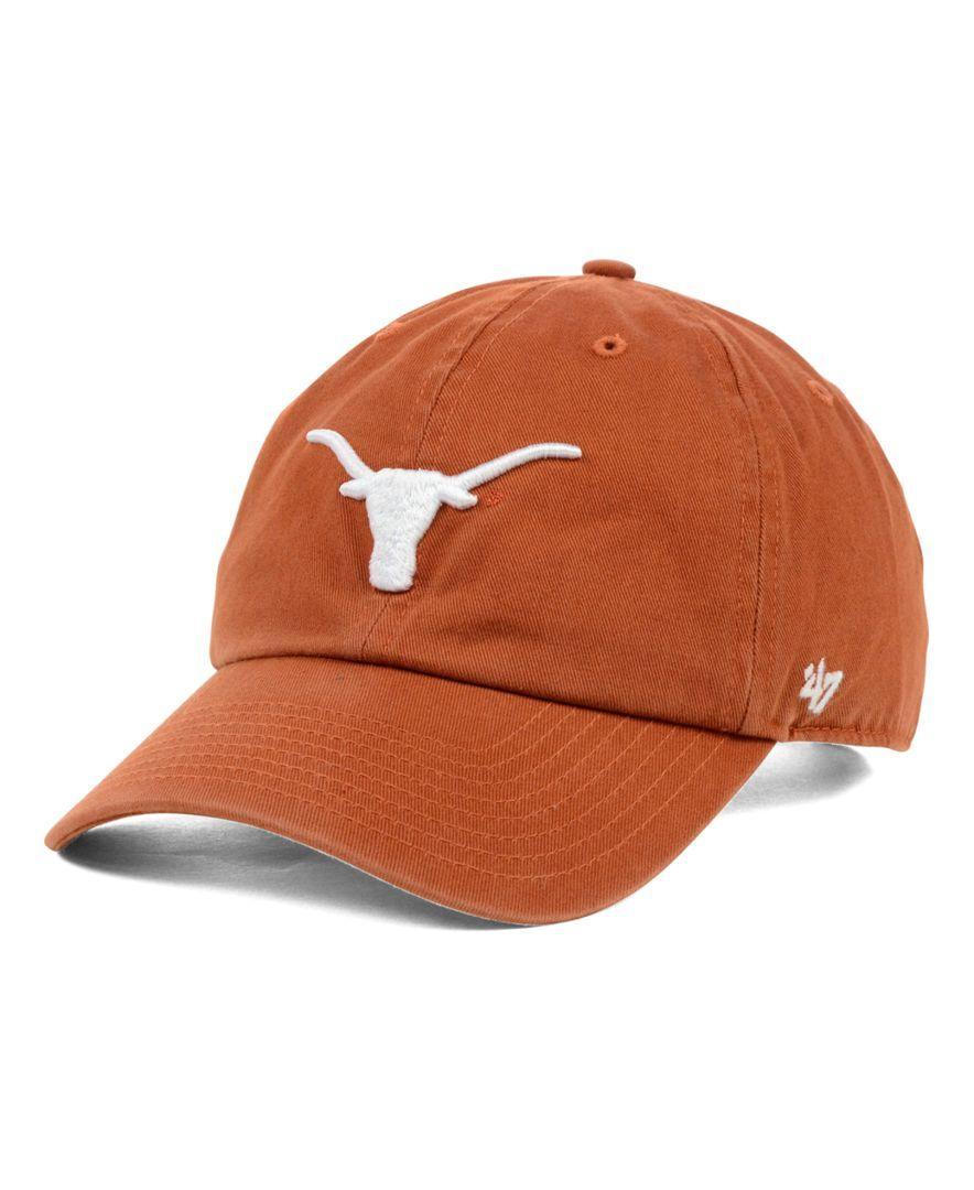 47 Brand Texas Longhorns Clean Up Cap Sports Fan Shop By Lids Men Macy S Hats For Men 47 Brand Texas Longhorns