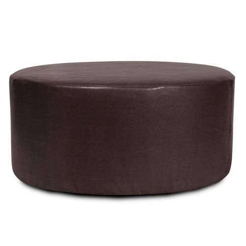 Howard Elliott Collection C132 194 Avanti Universal 36 In Round Ottoman Cover In Black Transitional Bellacor Round Ottoman Ottoman Slipcover Ottoman
