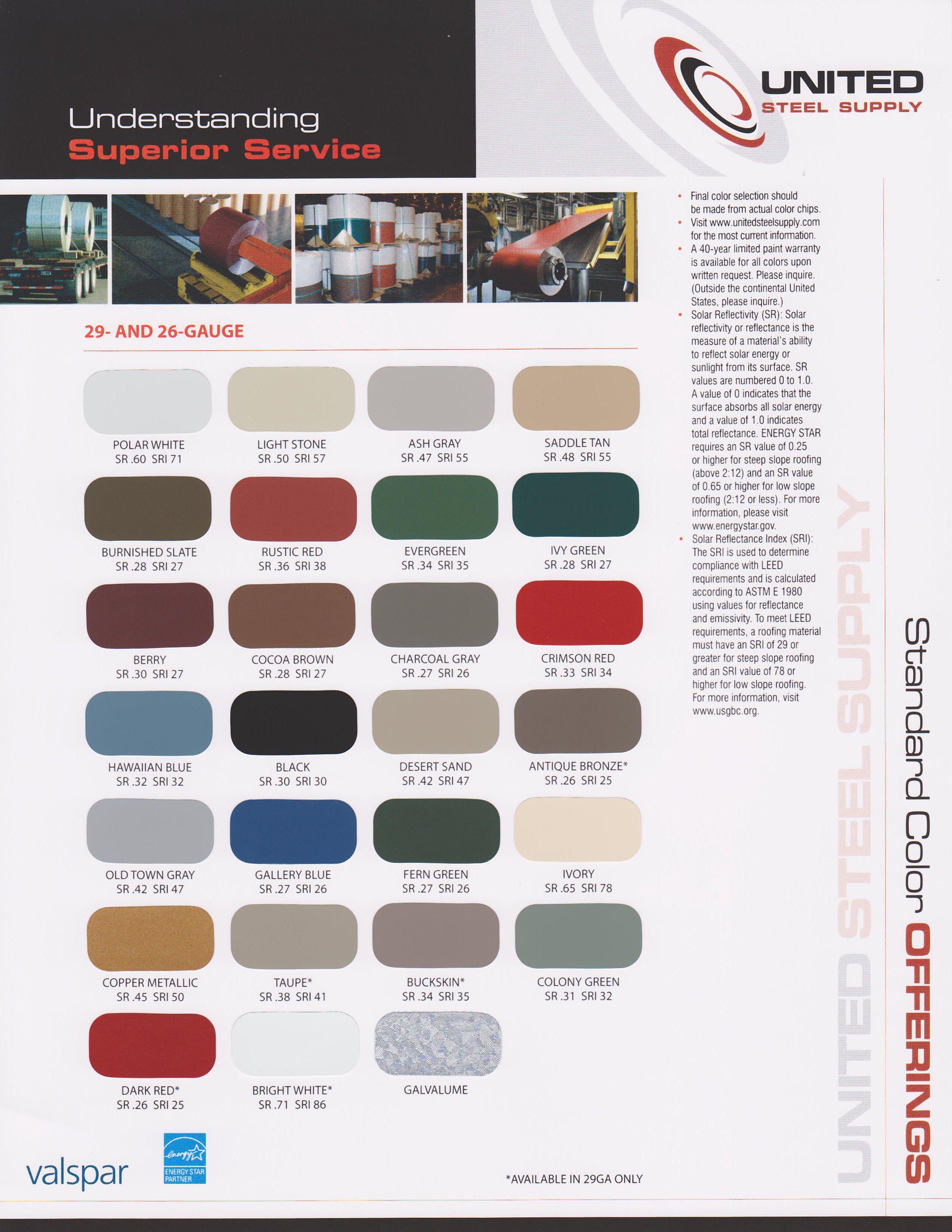 valspar metal roof color chart metal roof colors roof on valspar paint color chart id=97294