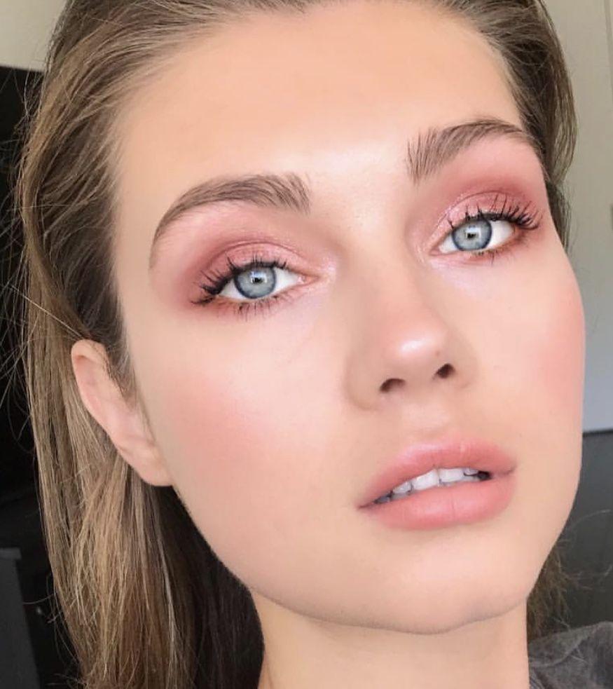 Chi Chi London Soft Blush Crochet Skirt Dress Pink Eye Makeup Blue Eye Makeup Eye Makeup