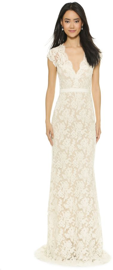 Reem acra fitted lace dress