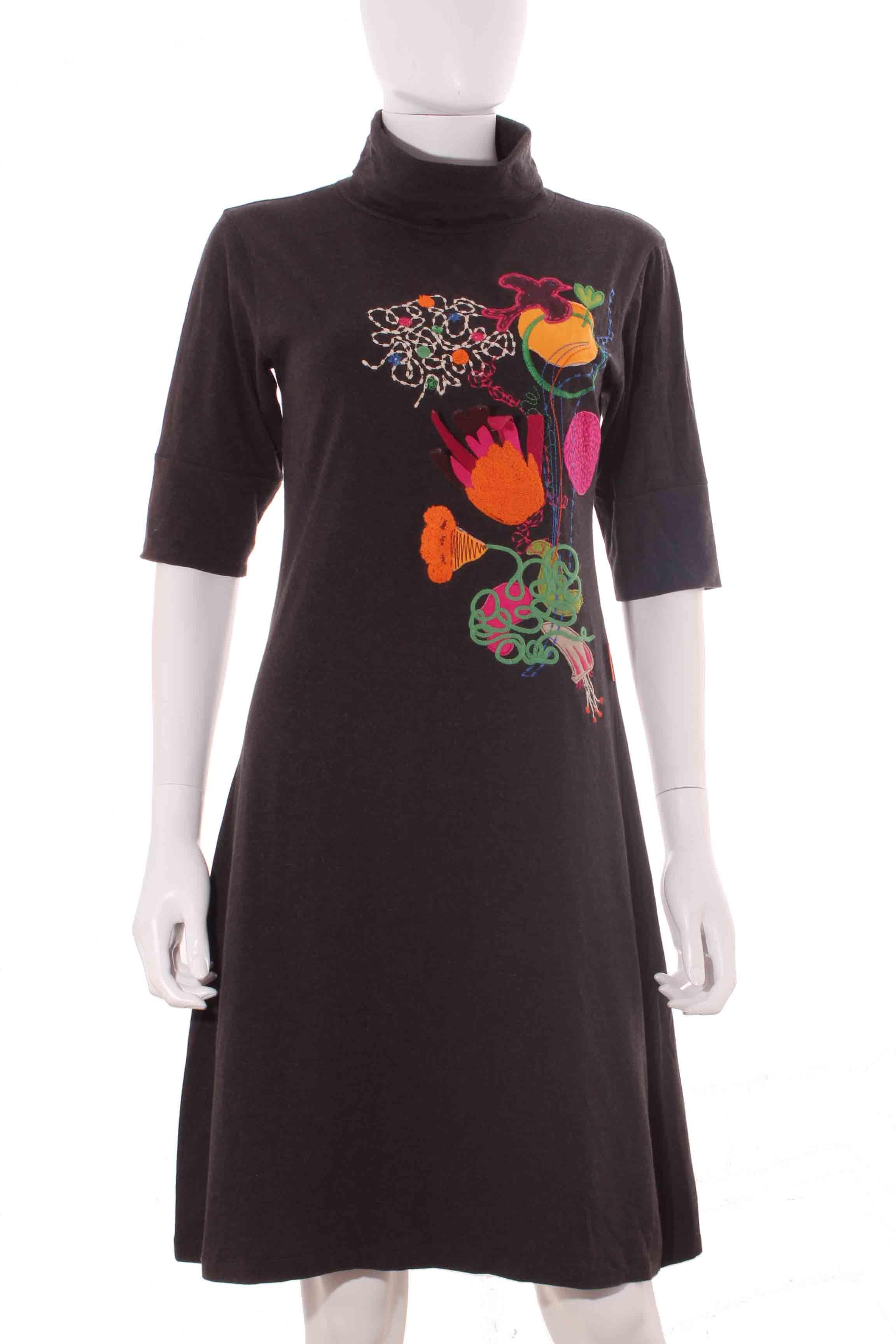 fd342680d Vestido Mujer – Desigual en Gris con Relieves de Segunda Mano Armario de  armario MJRD