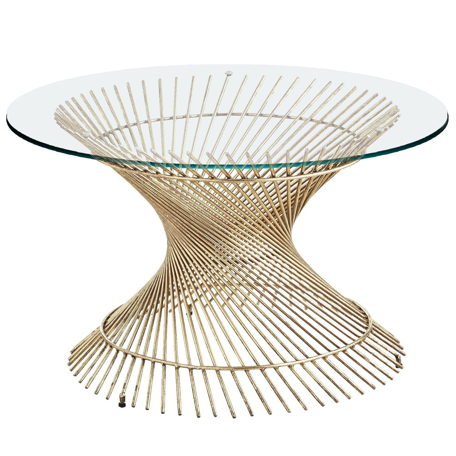 Orella Gold Spiral Coffee Table Base