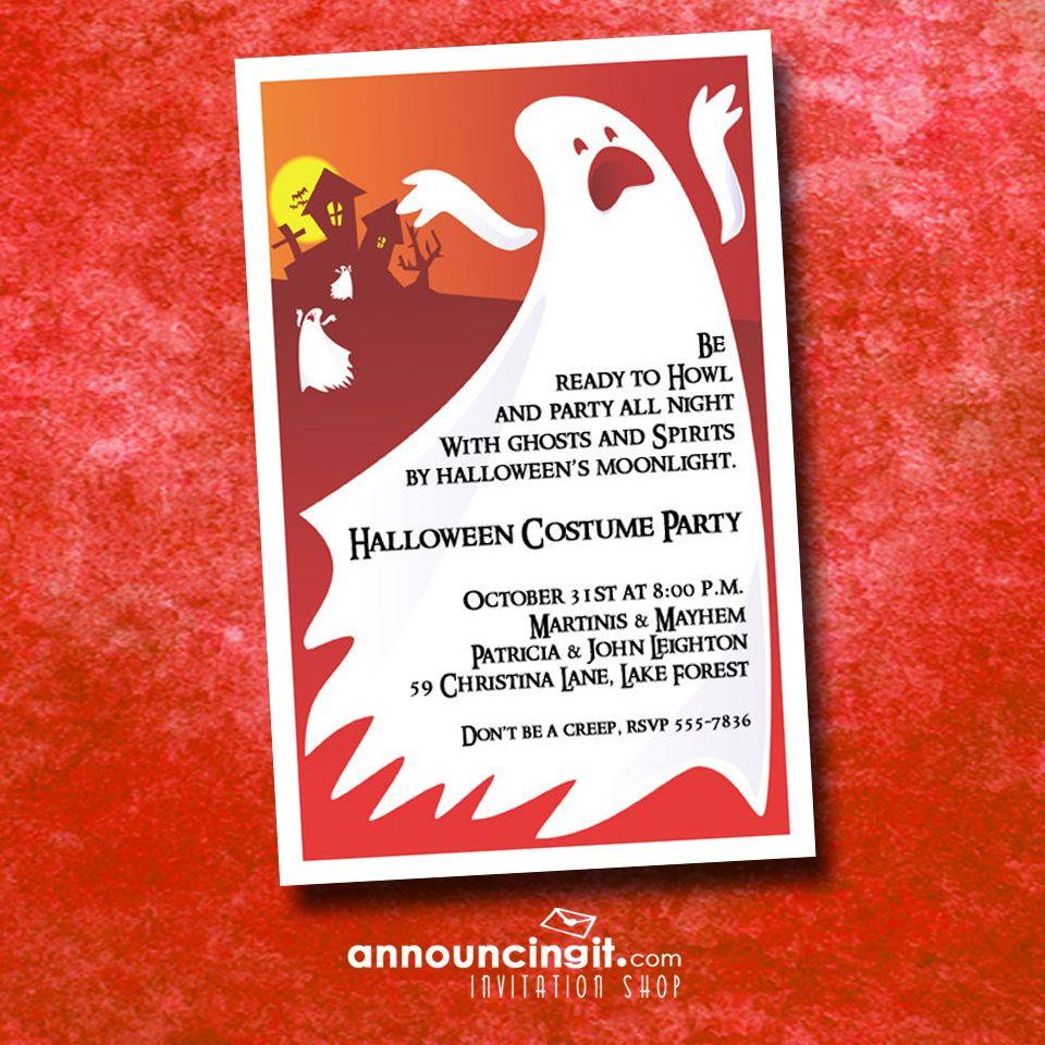 Spooktacular Halloween Party Invitations t