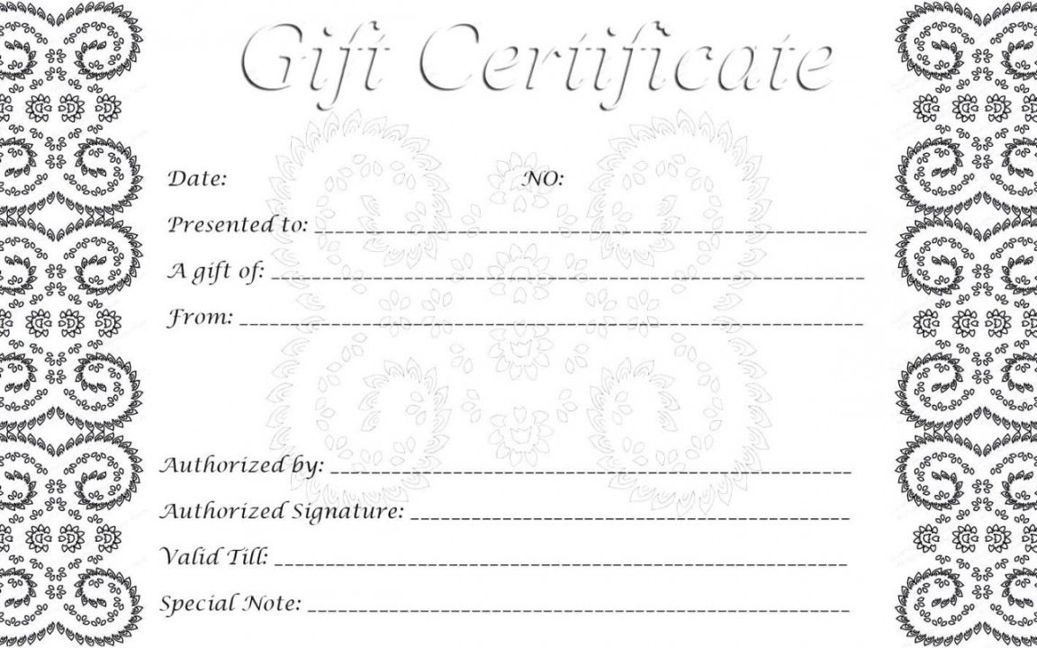 Explore Our Free Fancy Gift Certificate Template Christmas Gift Certificate Template Printable Gift Certificate Free Gift Certificate Template