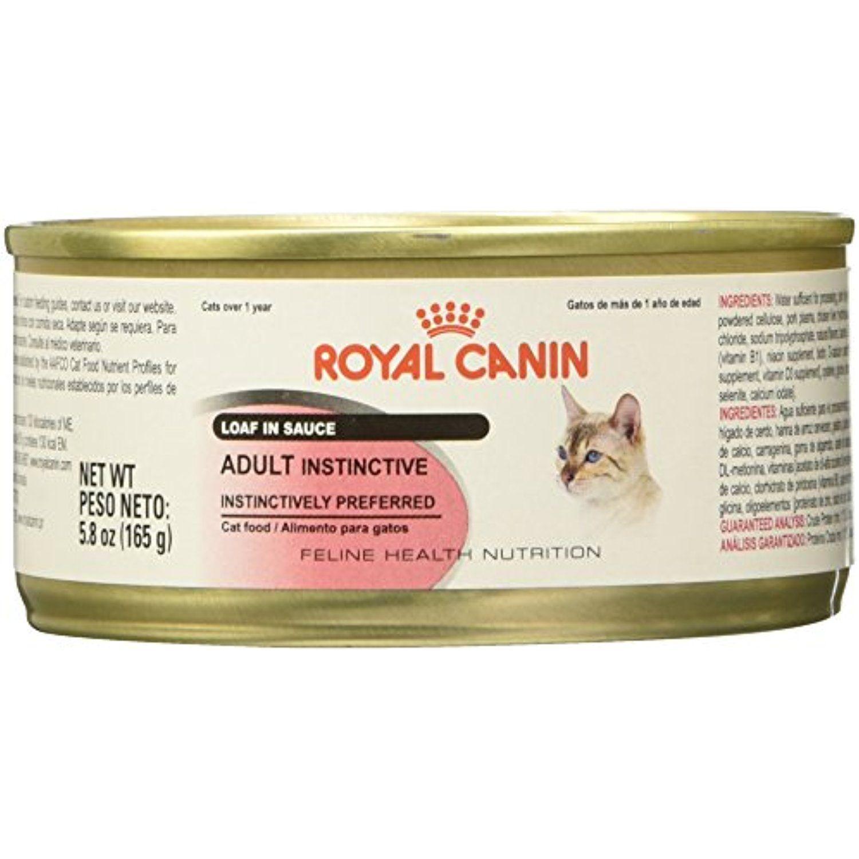Royal Canin Feline Health Nutrition Adult Instinctive Canned Cat Food Loaf In Sauce Item 41025 5 5 Oz 24 Ca Feline Health Canned Cat Food Health And Nutrition