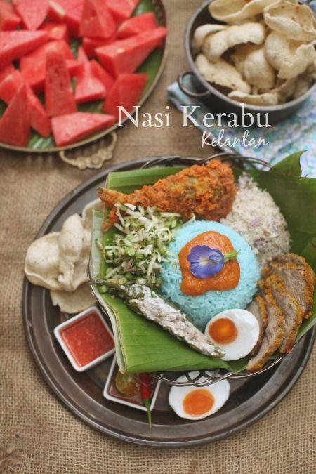 Resepi Nasi Kerabu Kelantan Yang Sangat Sedap Masam Manis Nasi Kerabu Food Kelantan