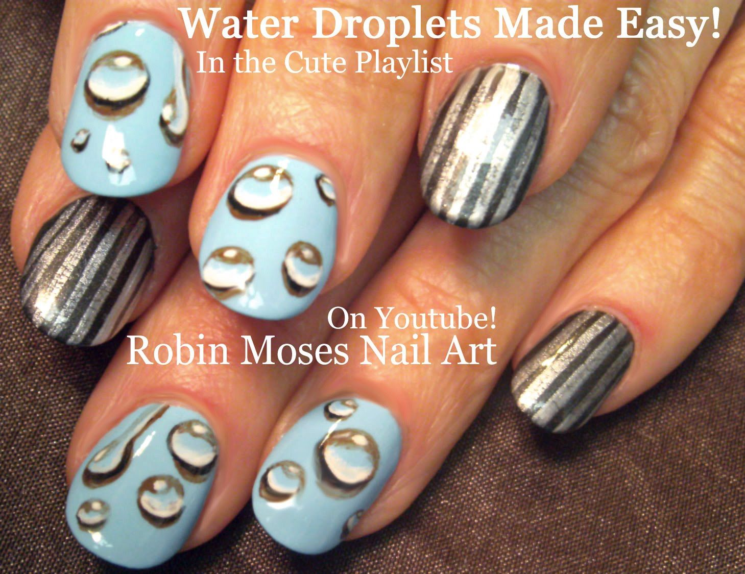 Water Droplets Nail Art UP Today!!!! #nailart #nails #nail #art ...