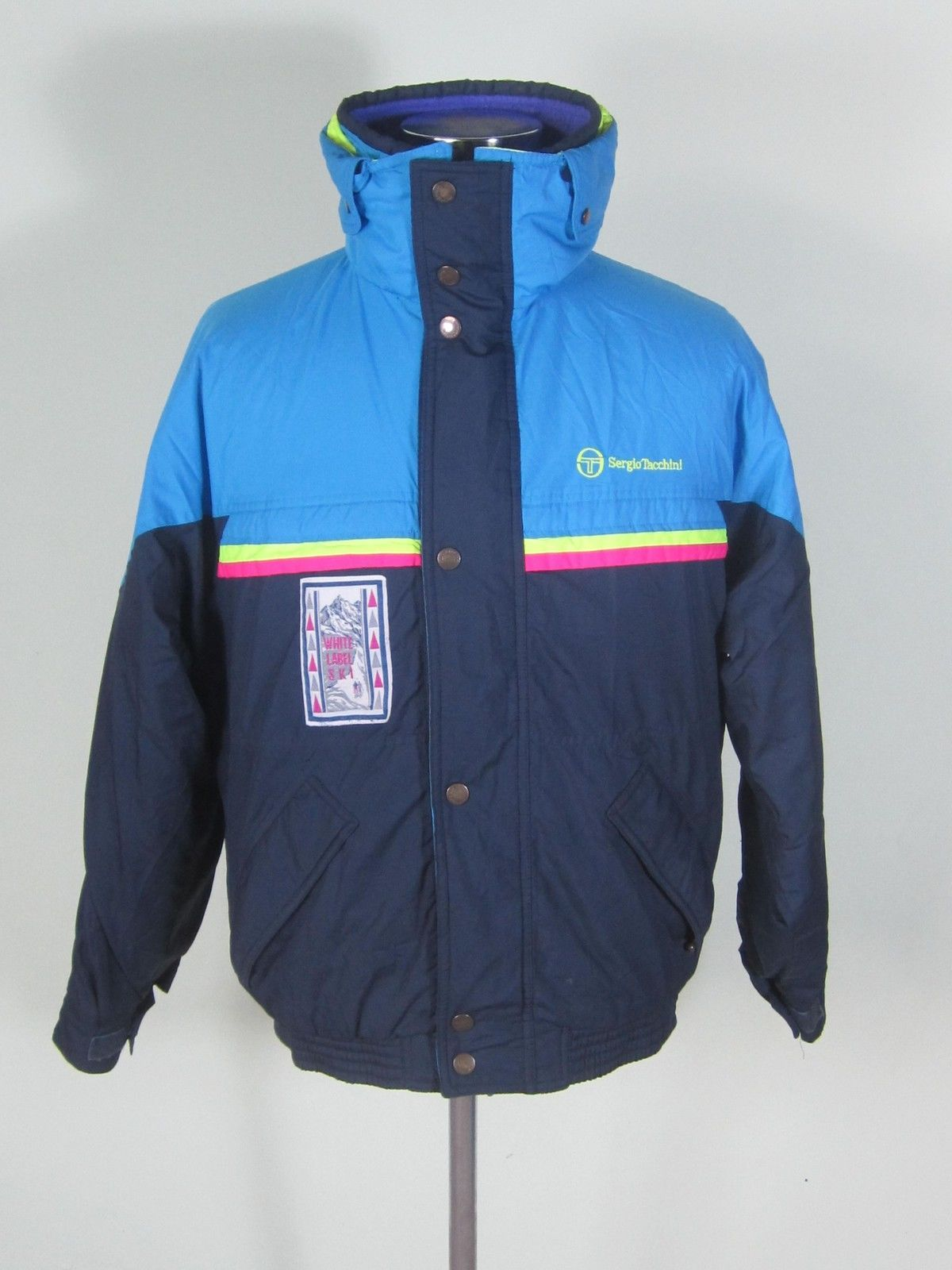 bfd9ad1f33f Vintage Mens Sergio Tacchini White Label Ski Jacket, Size M Medium, Blue  #NDR089 in Clothes, Shoes & Accessories, Men's Clothing, Coats & Jackets |  eBay