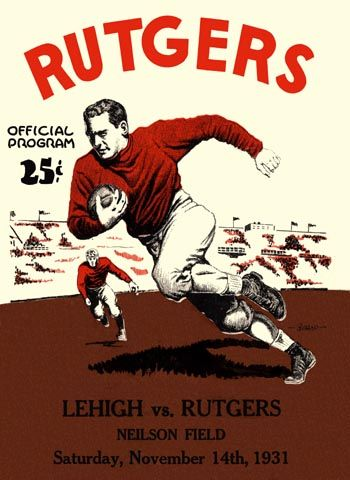 Rutgers Poster Rutgers Football Football Poster Rutgers